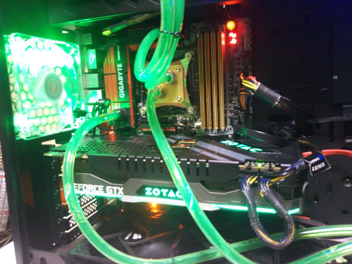 自作 Gaming PC z97X Gaming G1Wifi Bk Core i7 4790K GTX1080Ti Titanium電源 16Gメモリ 限定モデルケース_画像2