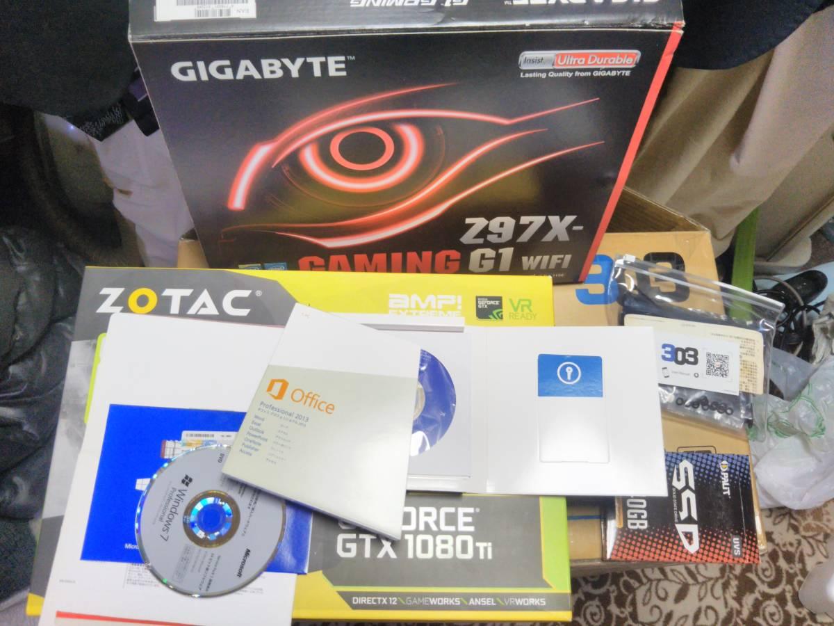 自作 Gaming PC z97X Gaming G1Wifi Bk Core i7 4790K GTX1080Ti Titanium電源 16Gメモリ 限定モデルケース_画像5