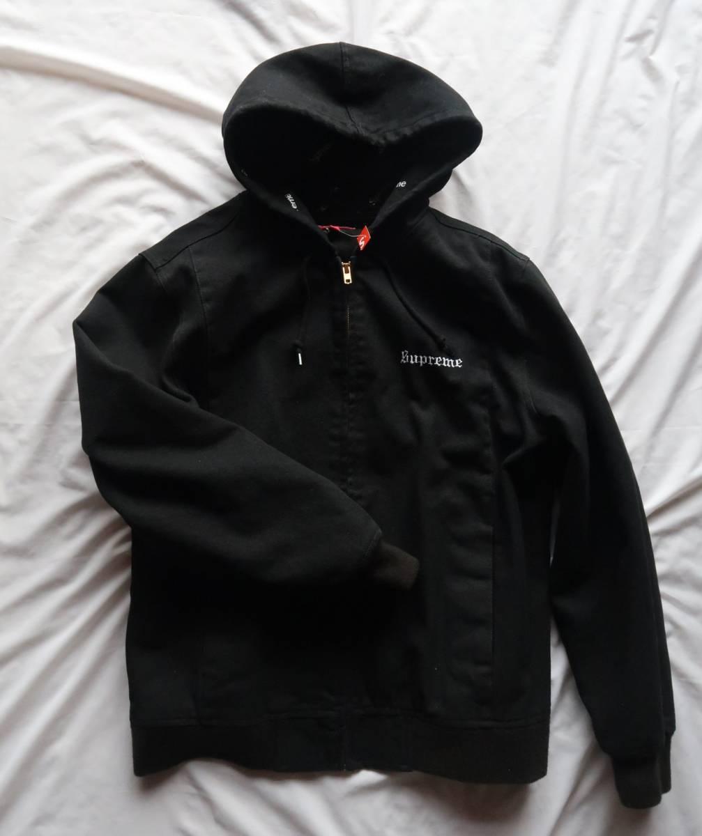 Supreme 17ss 2ーtone Hooded wark jacket ツートンフードワークジャケット ブラック シ