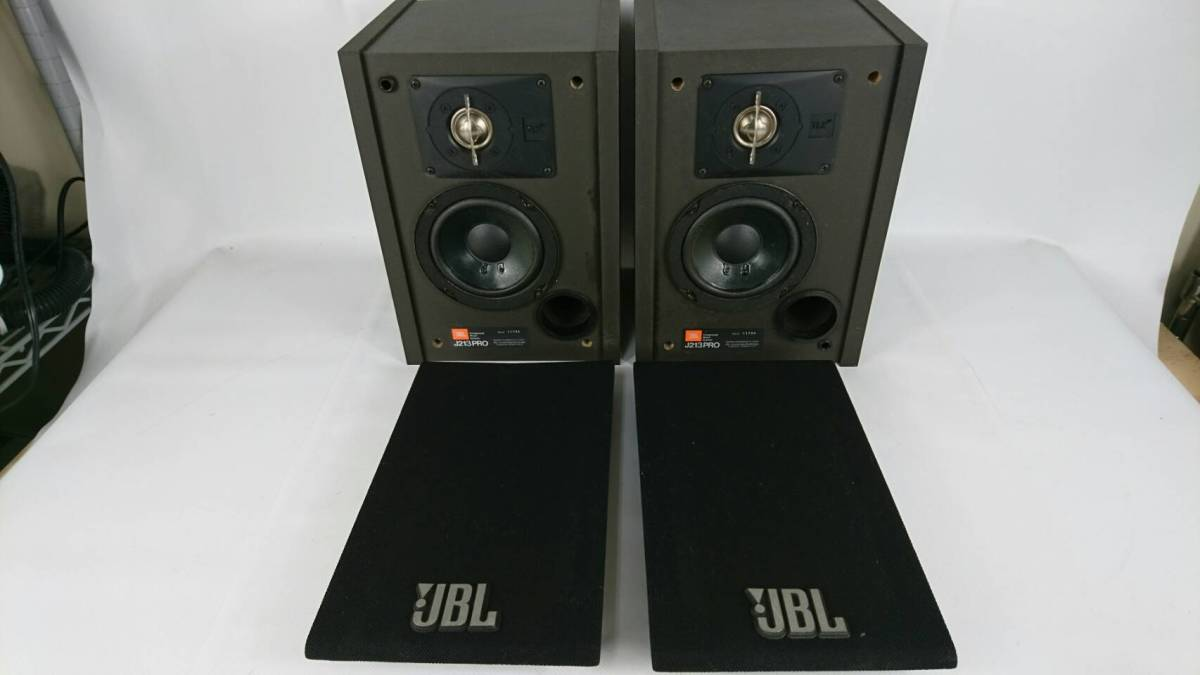 [30]JBL コンパクト2ウェイ スピーカー J213PRO 左右セット 通電未確認品 音響機器 パーツとり オーバーホールなどに_画像1