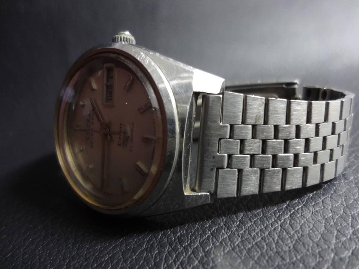 ▽▼CITIZEN SEVEN STAR Deluxe 21J シチズン セブンスター デラックス メンズ デイデイト 自動巻き 腕時計 ACSS 2933-Y ジャンク_画像2