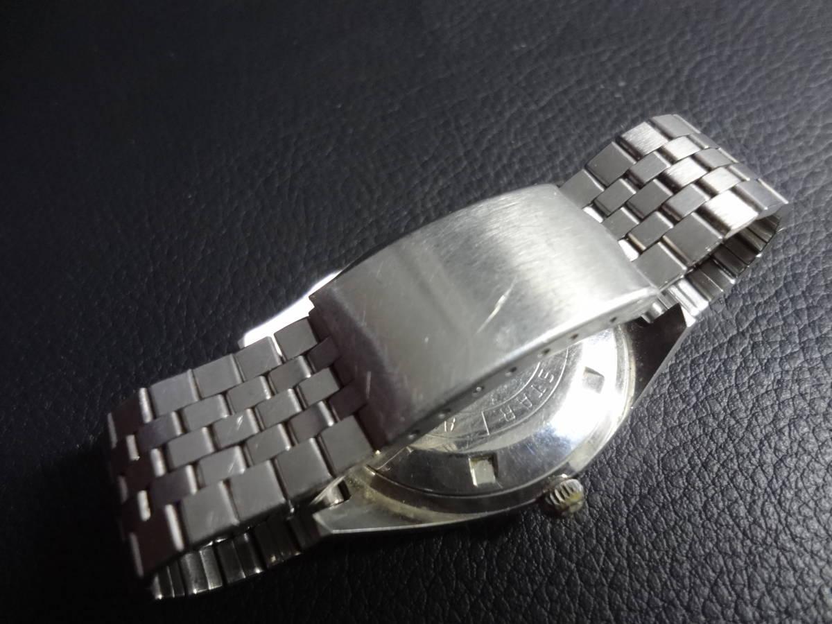 ▽▼CITIZEN SEVEN STAR Deluxe 21J シチズン セブンスター デラックス メンズ デイデイト 自動巻き 腕時計 ACSS 2933-Y ジャンク_画像4