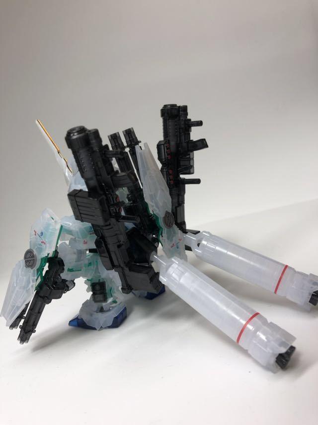 BB戦士 ガンダムベース限定 フルアーマ ユニコーン ガンダム & ネオ ジオング [クリアカラー] ガンプラ パチ組 完成品_画像3