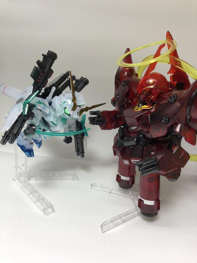 BB戦士 ガンダムベース限定 フルアーマ ユニコーン ガンダム & ネオ ジオング [クリアカラー] ガンプラ パチ組 完成品
