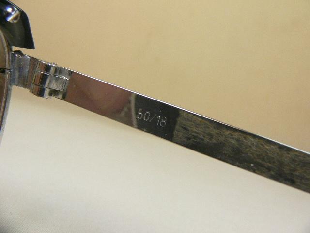Safilo PRESIDENT ヴィンテージ 眼鏡 フレーム ブローライン サフィーロ_サイスの刻印とシール跡