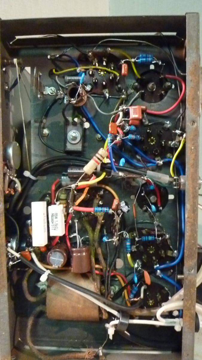 三洋製 真空管ラジオ 整備品 シャーシーのみ 中古_画像2