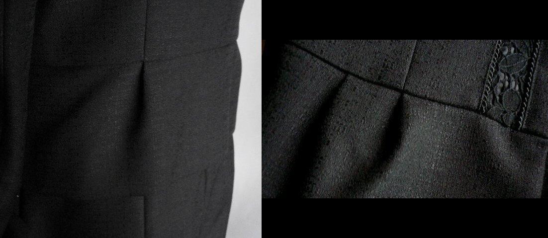 新品9号11号豪華2ジャケット付(黒)レースワンピーススーツ卒業式入学式フォーマルセレモニー _画像6