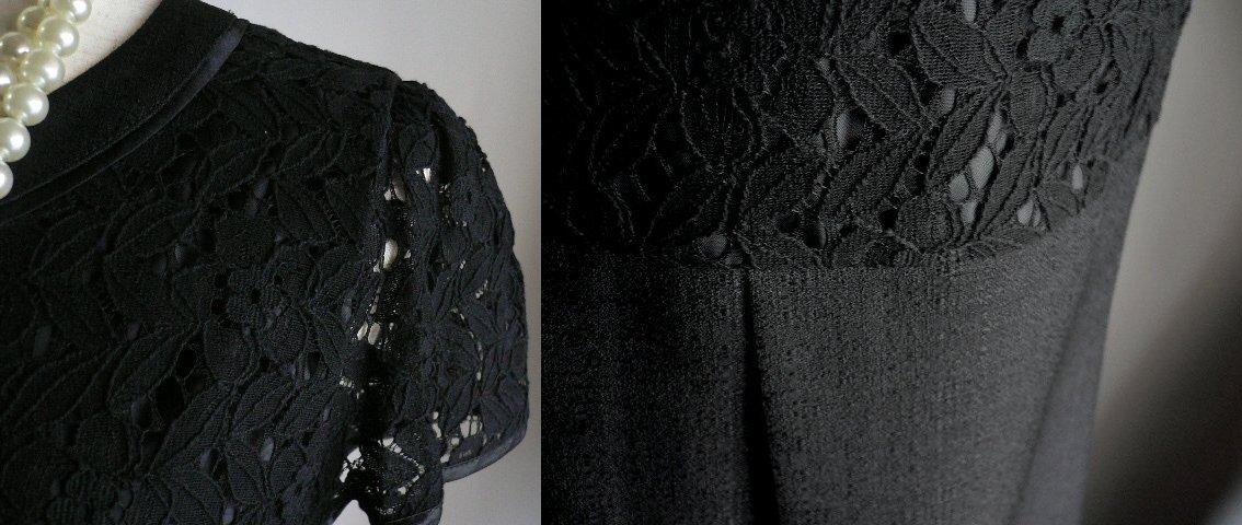新品9号11号豪華2ジャケット付(黒)レースワンピーススーツ卒業式入学式フォーマルセレモニー _画像4