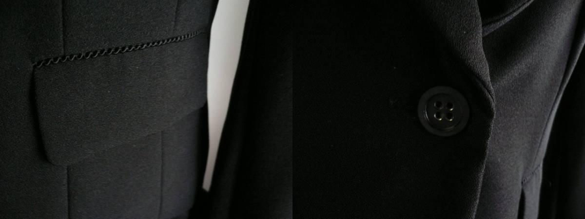 新品9号11号豪華2ジャケット付(黒)レースワンピーススーツ卒業式入学式フォーマルセレモニー _画像3