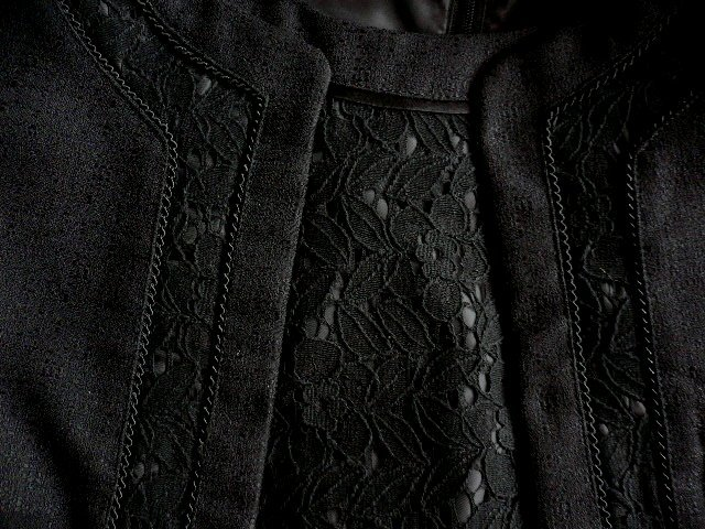 新品9号11号豪華2ジャケット付(黒)レースワンピーススーツ卒業式入学式フォーマルセレモニー _画像5