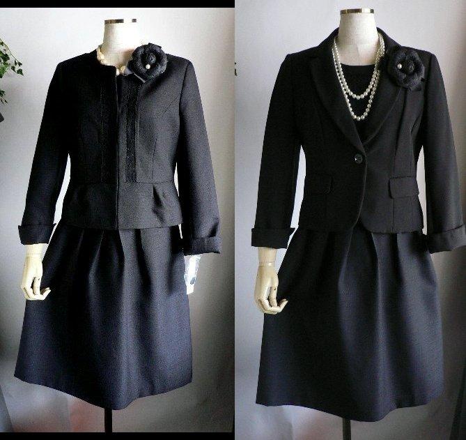 新品9号11号豪華2ジャケット付(黒)レースワンピーススーツ卒業式入学式フォーマルセレモニー _画像1