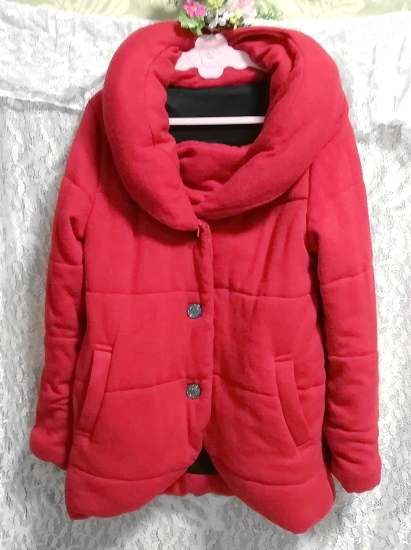 CECIL McBEE セシルマクビー 赤レッドあったかショートコート/外套/アウター Red red hot short coat mantle