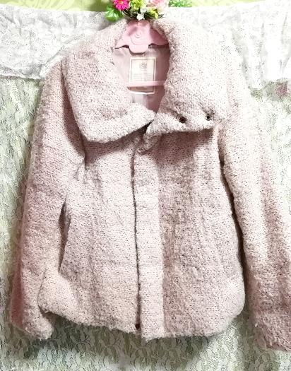 薄ピンクフワフワダウンコート/外套/アウター Light pink fluffy down coat mantle outer_画像2