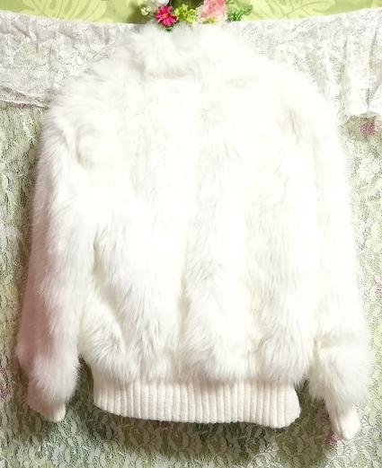白ホワイトふわふわジャンパーコート/外套/アウター White fluffy coat mantle outer_画像6