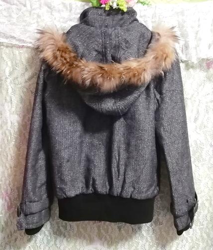 CECIL McBEE セシルマクビー 灰グレーラクーンファーフードコート/外套/アウター Ash gray raccon fur hood coat mantle_画像7