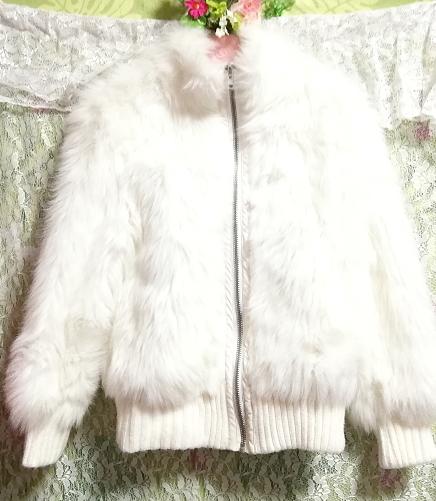 白ホワイトふわふわジャンパーコート/外套/アウター White fluffy coat mantle outer_画像3