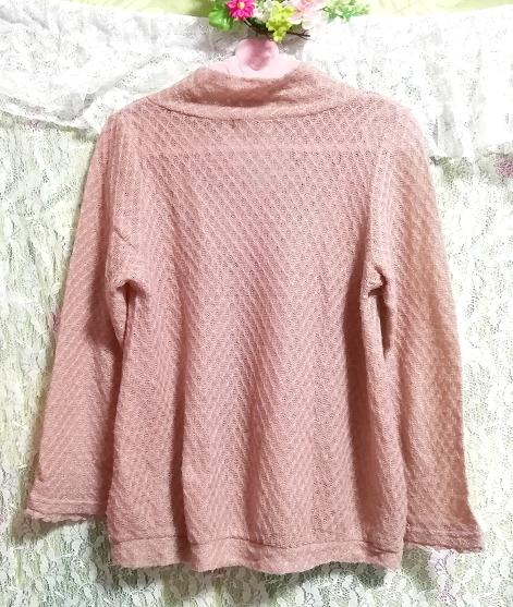 ピンクベージュ薄手リボン付きカットソー長袖/トップス Pink beige thin cut and sewn long sleeve tops_画像2