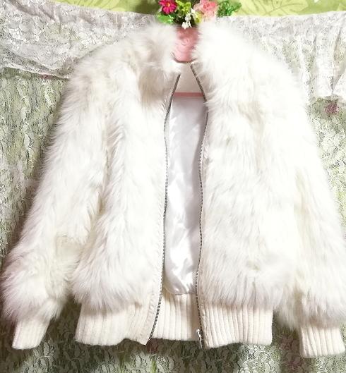 白ホワイトふわふわジャンパーコート/外套/アウター White fluffy coat mantle outer_画像5