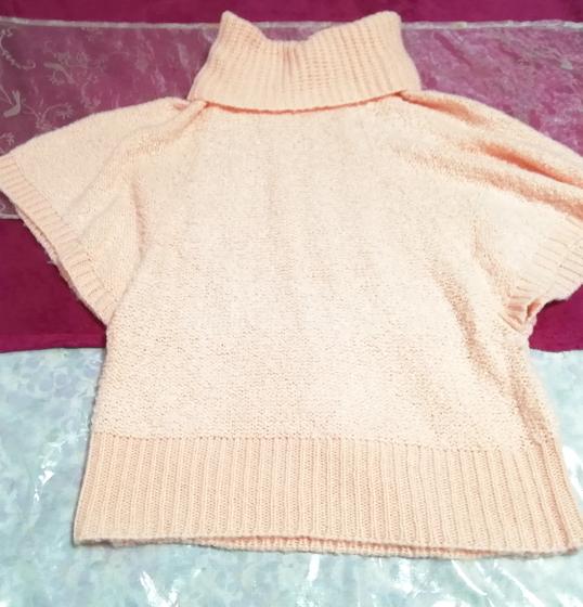 インドネシア製ピンク桜タートルネックふわふわ/セーター/ニット/トップス Made in indonesia pink sakura color fluffy sweater knit tops_画像3