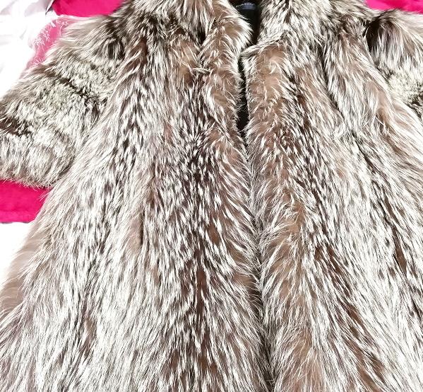 EMBA best quality 茶灰白豪華美品リアルファーマキシロングコート Brown ash white gorgeous beauty item real fur maxi long coat mantle_画像4