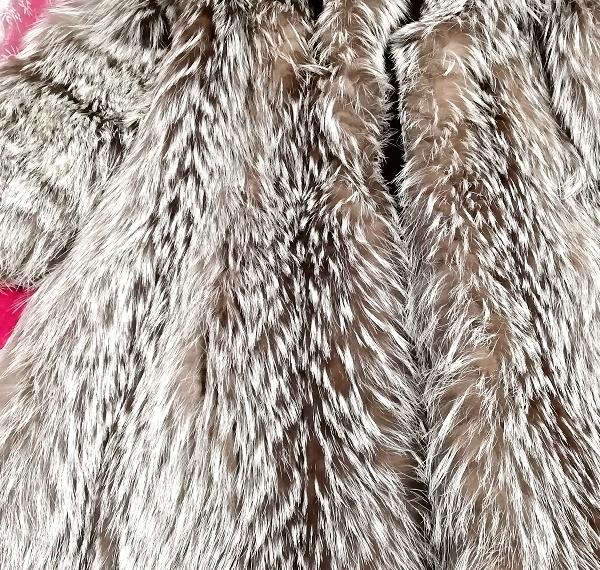 EMBA best quality 茶灰白豪華美品リアルファーマキシロングコート Brown ash white gorgeous beauty item real fur maxi long coat mantle_画像5