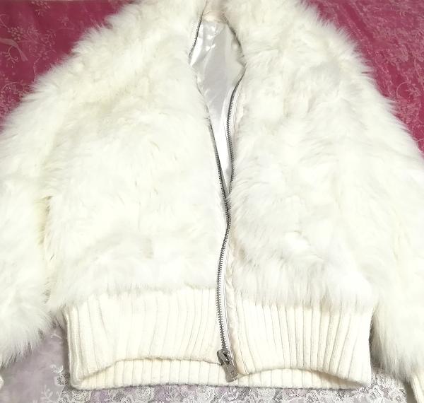 白ホワイトふわふわジャンパーコート/外套/アウター White fluffy coat mantle outer_画像2