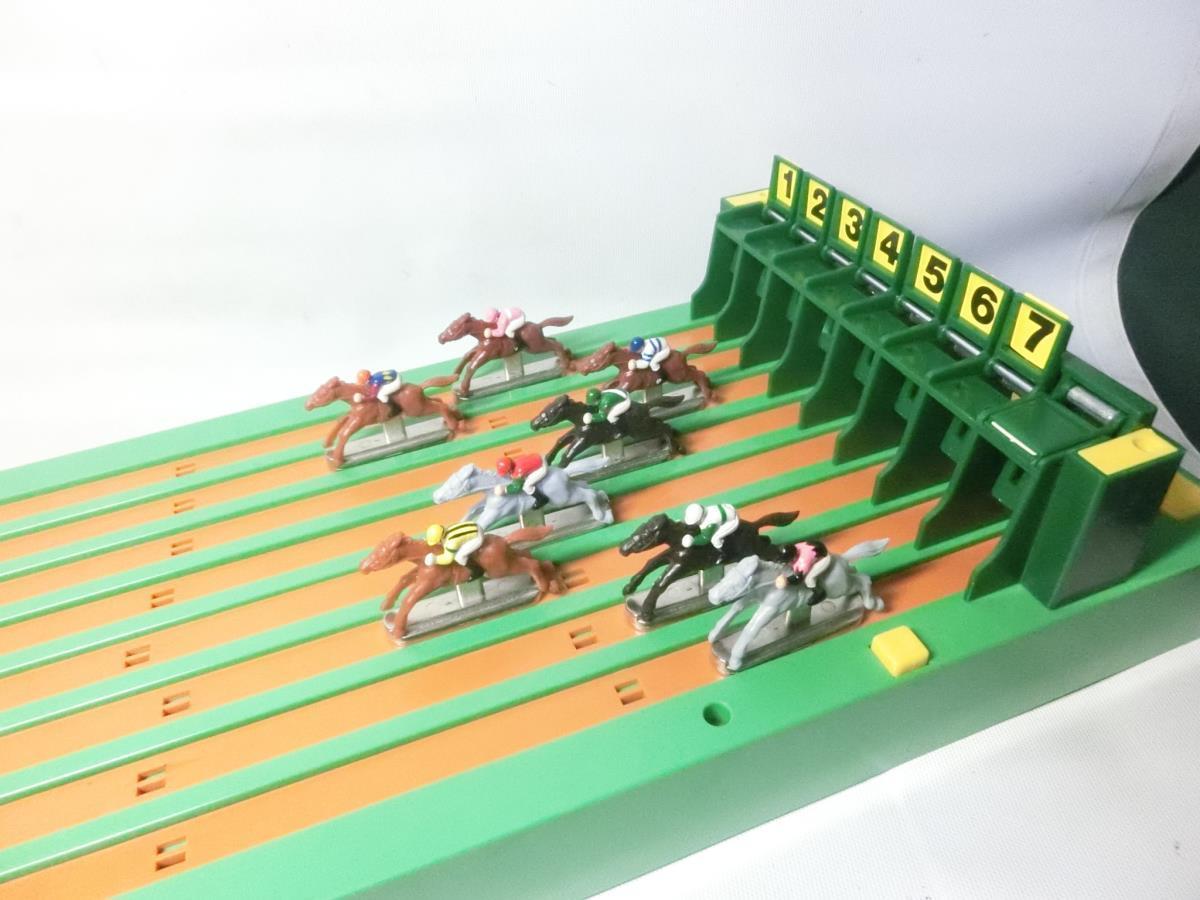 §ツクダオリジナル 8頭立てリアルタイプ 実践エキサイティング競馬ゲーム アンティーク レトロ_画像4