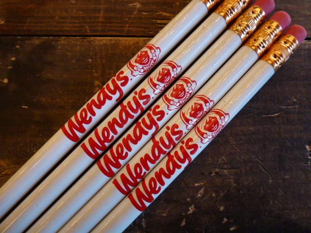 ウェンディーズ 鉛筆 5本セット Wendy's ファーストフード ハンバーガー USA アメリカ 文具 マクドナルド マック 企業 筆記用具_画像2
