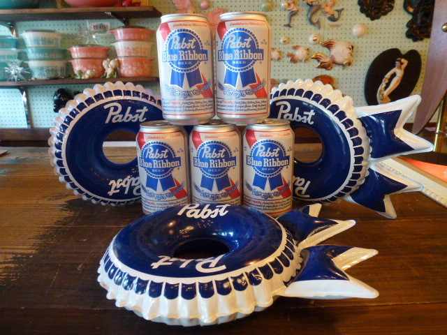 Pabst Blue Ribbon パブスト ブルーリボン インフレタブル USA アメリカ BEER ビール 企業 バドワイザー ボトルキャップ_画像4