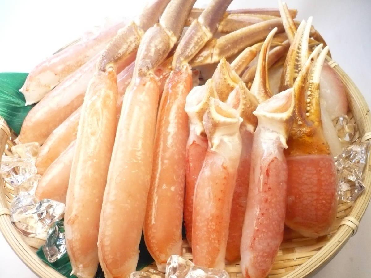 北海道産!本ズワイガニ ビードロカット 1kg 足と胴と爪のセット 自宅で本格料理屋さんのカニ鍋をお楽しみ頂けます!_北海道産!鮮度抜群の本ズワイガニです!