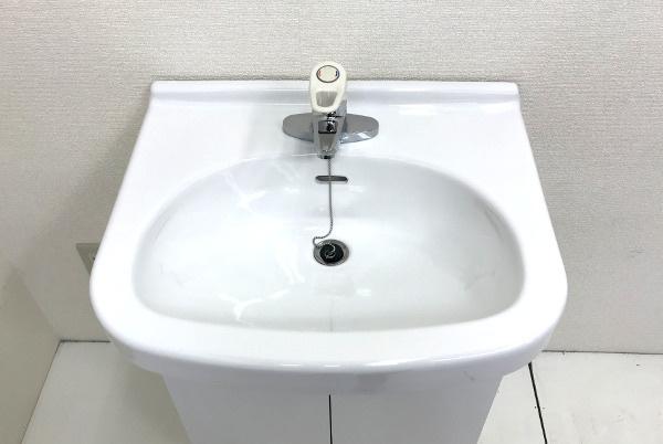 トートー TOTO Bシリーズ 洗面化粧台 鏡なし【LDB604AMA】洗面ボール+キャビネット+シングル混合水栓 TL330UGRセット間口600mm _画像2