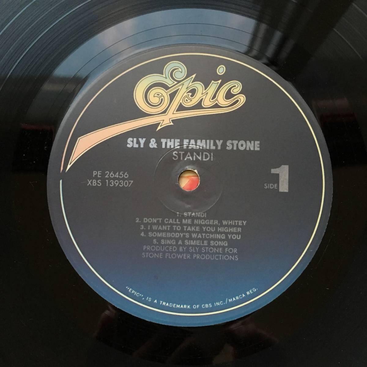 【LP・米盤/EPIC PE-26456】SLY & THE FAMILY STONE(スライ&ザ ファミリーストーン)/ STAND(スタンド)_画像3