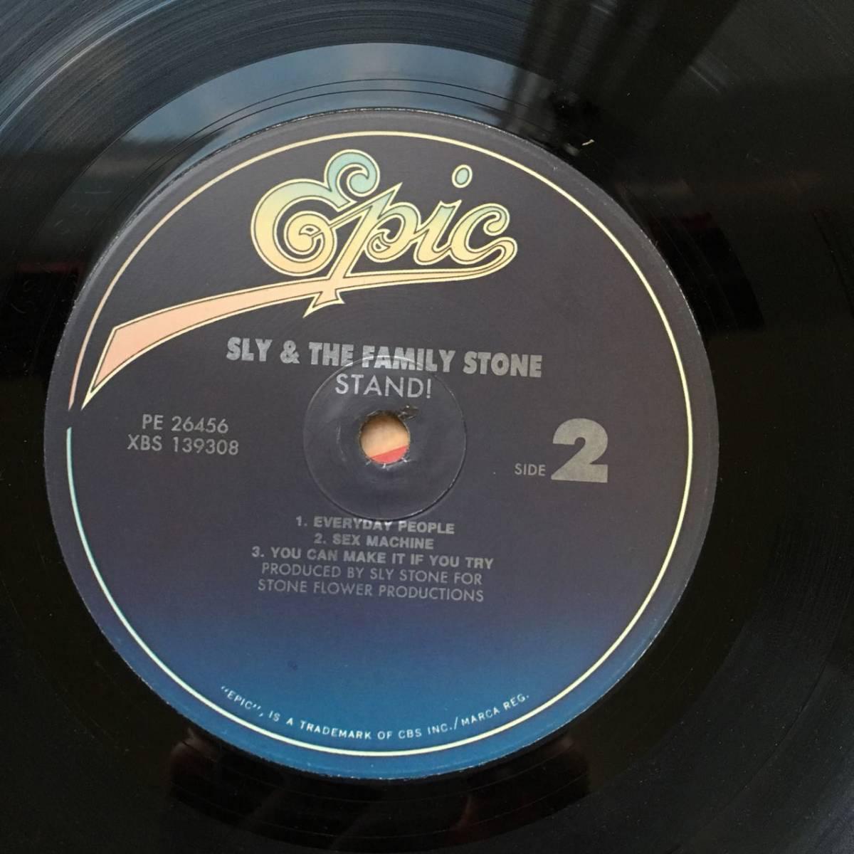【LP・米盤/EPIC PE-26456】SLY & THE FAMILY STONE(スライ&ザ ファミリーストーン)/ STAND(スタンド)_画像4