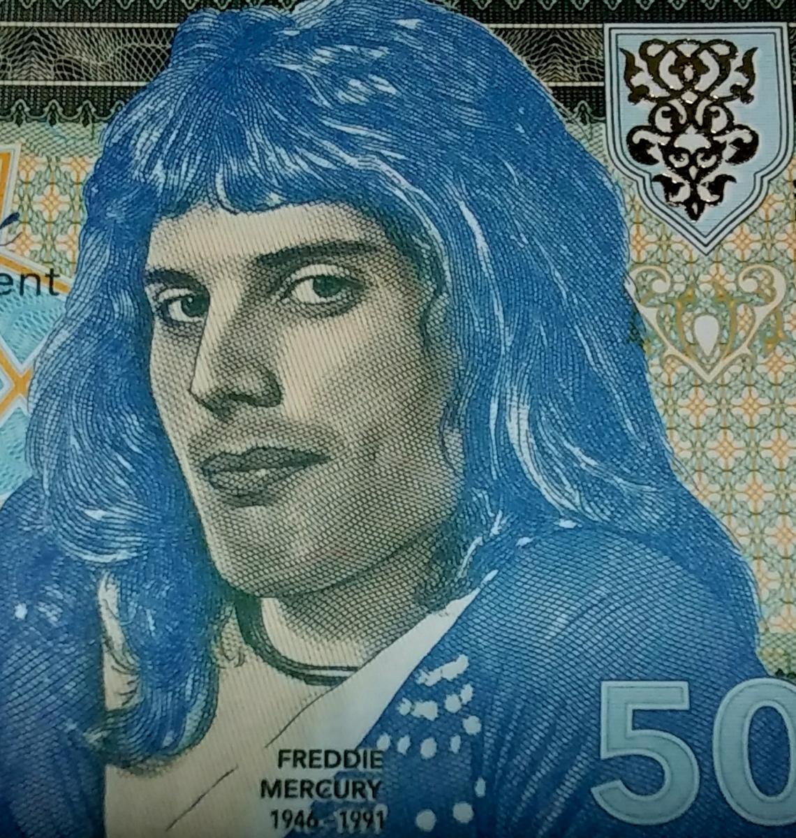 最後の1つ!世界800枚!QUEEN、フレディマーキュリーのプライベートISSUE、50ルピー紙幣。ONE HUNDRED RUPEESと書かれた珍しいエラー紙幣_画像5