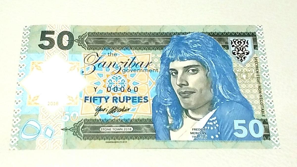 最後の1つ!世界800枚!QUEEN、フレディマーキュリーのプライベートISSUE、50ルピー紙幣。ONE HUNDRED RUPEESと書かれた珍しいエラー紙幣_画像10