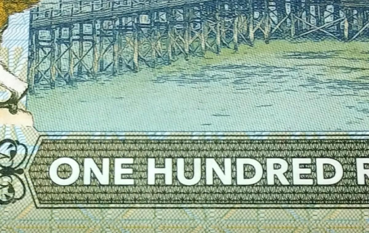 最後の1つ!世界800枚!QUEEN、フレディマーキュリーのプライベートISSUE、50ルピー紙幣。ONE HUNDRED RUPEESと書かれた珍しいエラー紙幣_画像8