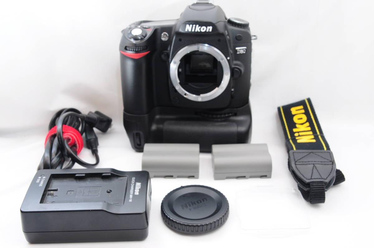 ★美品★ニコン Nikon D80ボディ 社外品バッテリーグリップ付 (19103)拍卖