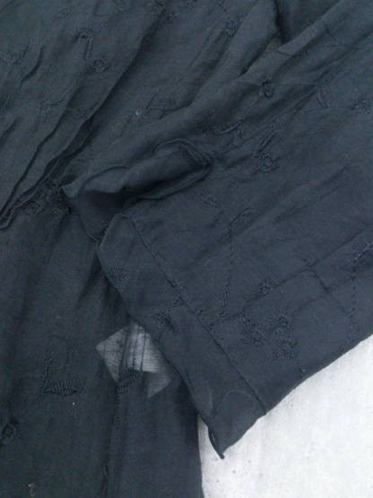 ◇ VENT DE MER ヴァンドメール 花柄 総柄 刺繍 長袖 シャツ ブラウス ブラック * ◆ 1000026537619_画像4