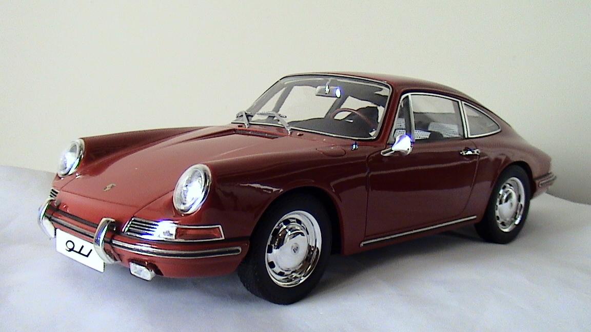 TSM【1/12 ポルシェ 911】Porsche 911/1964 レッド TSM141201 限定300台 国内定価52000円 開封箱無 ケース内展示にて美品 トゥルースケール_画像3