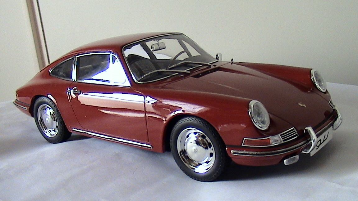 TSM【1/12 ポルシェ 911】Porsche 911/1964 レッド TSM141201 限定300台 国内定価52000円 開封箱無 ケース内展示にて美品 トゥルースケール_画像6