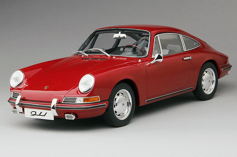 TSM【1/12 ポルシェ 911】Porsche 911/1964 レッド TSM141201 限定300台 国内定価52000円 開封箱無 ケース内展示にて美品 トゥルースケール_商品サンプル画像