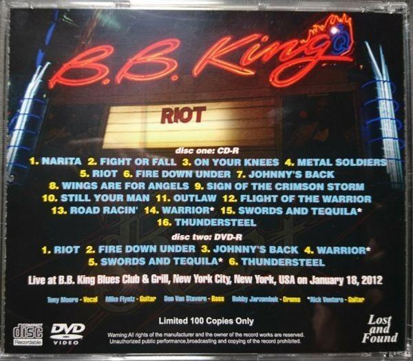 RIOT - IMMORTAL HIS SOUL 2012 CD+DVD_画像2