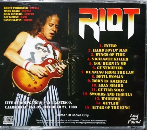 RIOT - MADE IN AMERICA 1983 CD_画像2