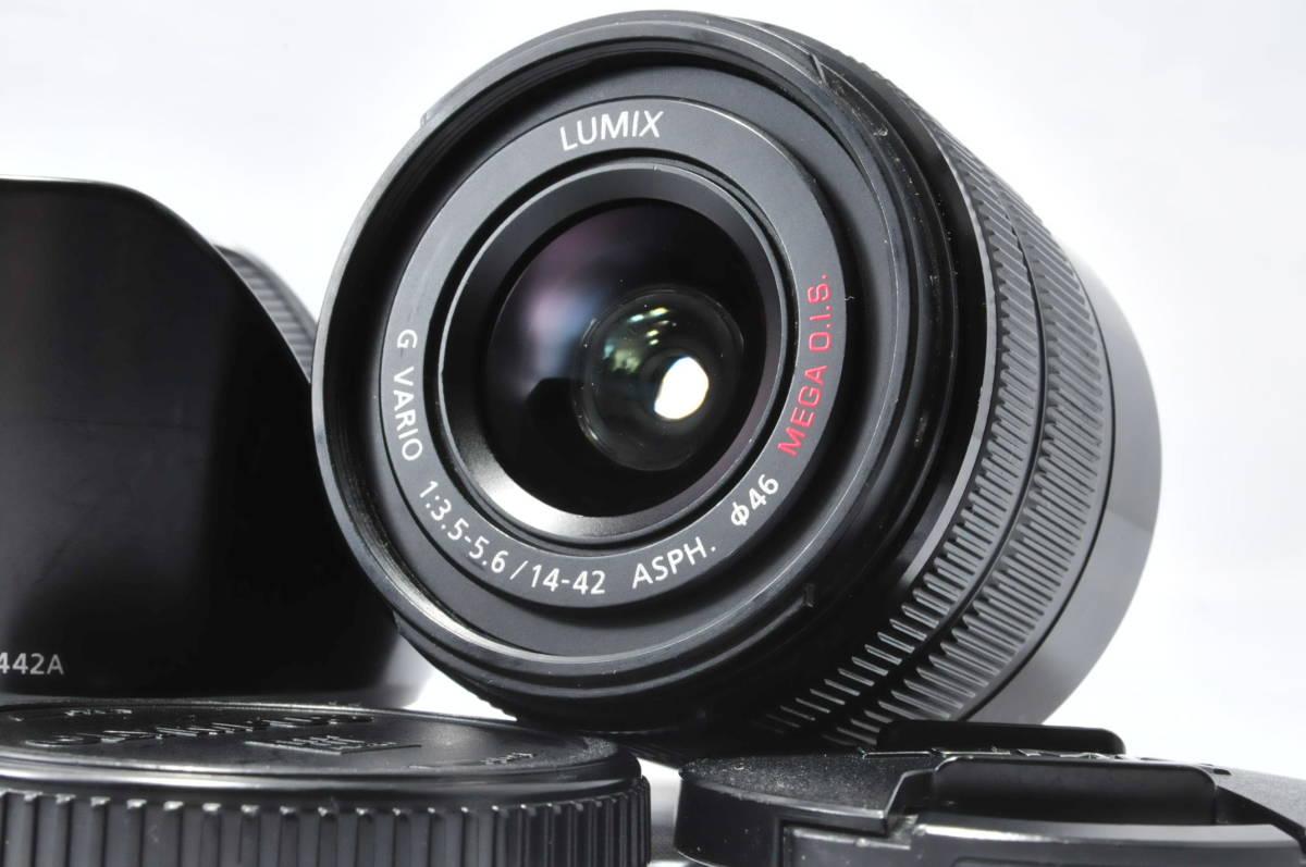 ★実用美品★ LUMIX ルミックス G VARIO 14-42mm F3.5-5.6 ASPH. MEGA O.I.S. ii 旧カラー HD赤文字 ★m.p-19Mc19-0180