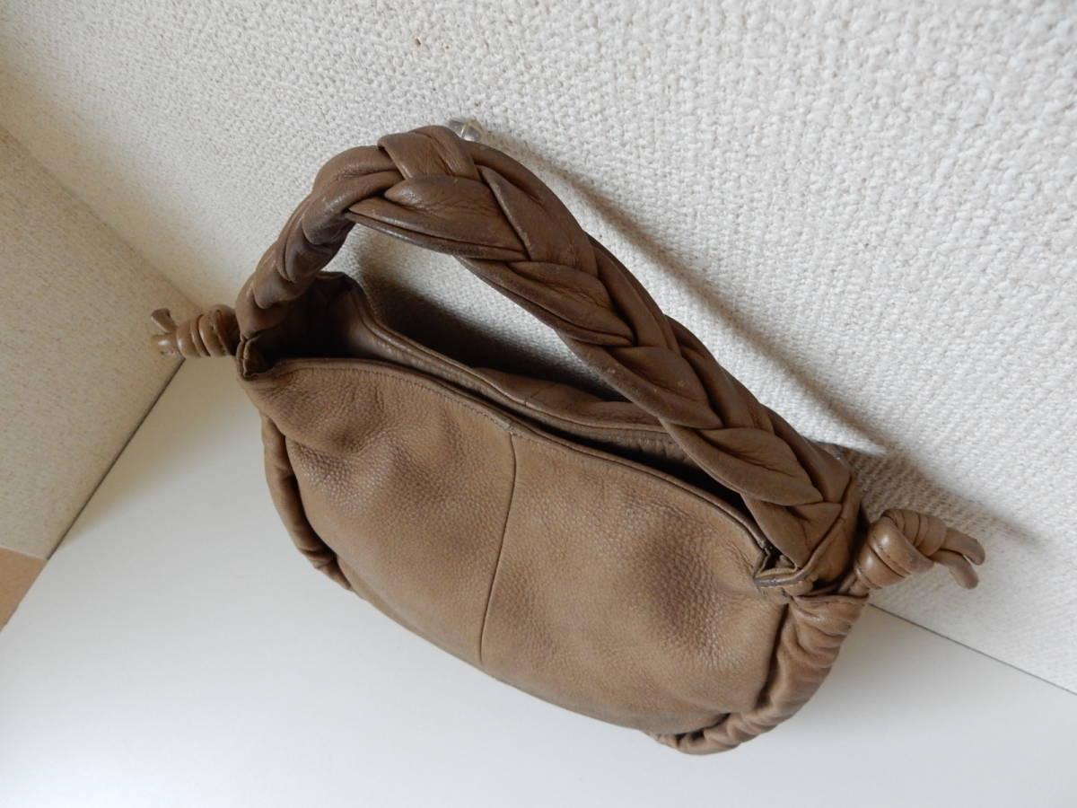 本革☆PAL(パル)肩掛けOK☆ハンドバッグ シャンピニオン_バッグ上部