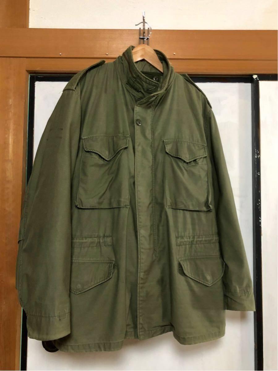 米軍実物 ビンテージ M-65 フィールドジャケット 3rd 78年製 LARGE-ブラスジップ
