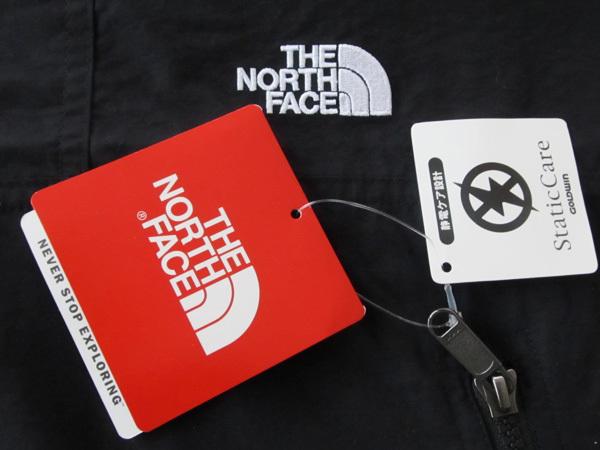 新品ノースフェイス黒サイズMマウンテンパーカー コンパクトジャケット ライトシェル ウインドシェル アウトドア ブラック マウンテン_画像8