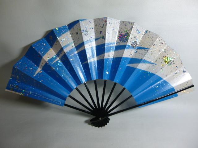 飾扇 能扇 舞扇 「青銀散らし」/日本舞踊 能楽 飾扇 a28_画像1