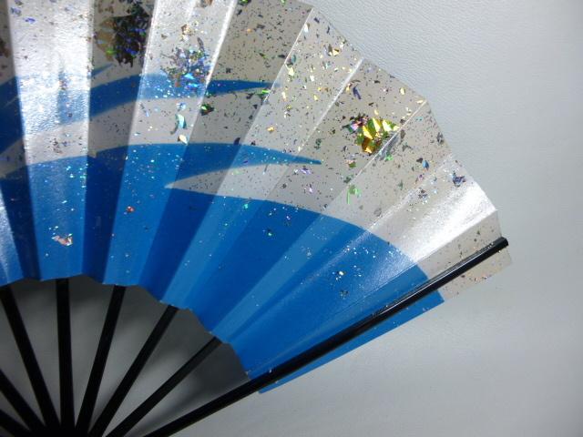 飾扇 能扇 舞扇 「青銀散らし」/日本舞踊 能楽 飾扇 a28_画像4