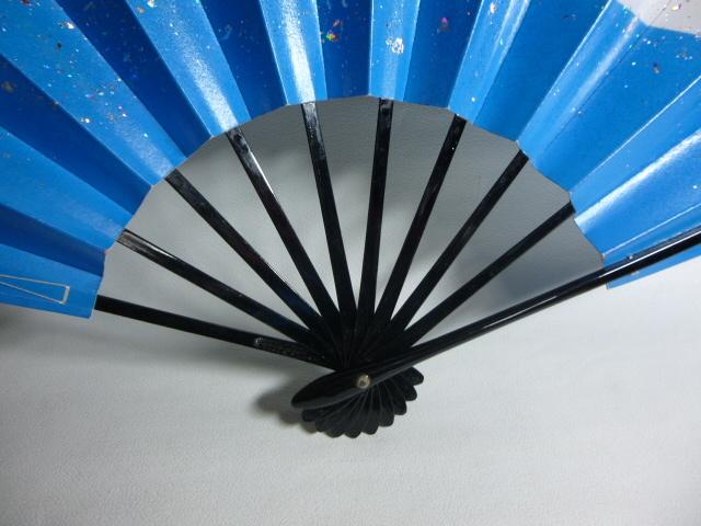 飾扇 能扇 舞扇 「青銀散らし」/日本舞踊 能楽 飾扇 a28_画像5